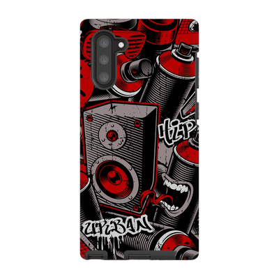 Graffiti Red Galaxy Note 10 and 10 Plus - Purdycase