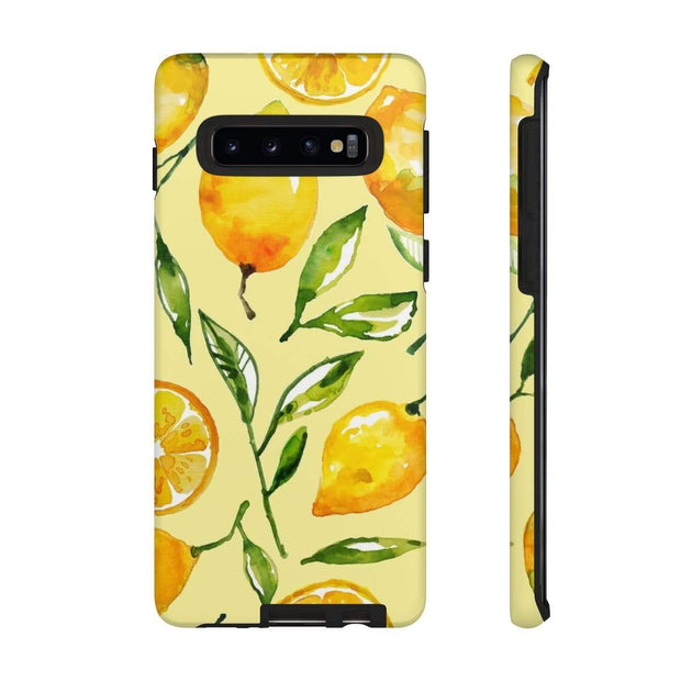 Yellow Lemon Galaxy 10 Series Tough Case - Purdycase