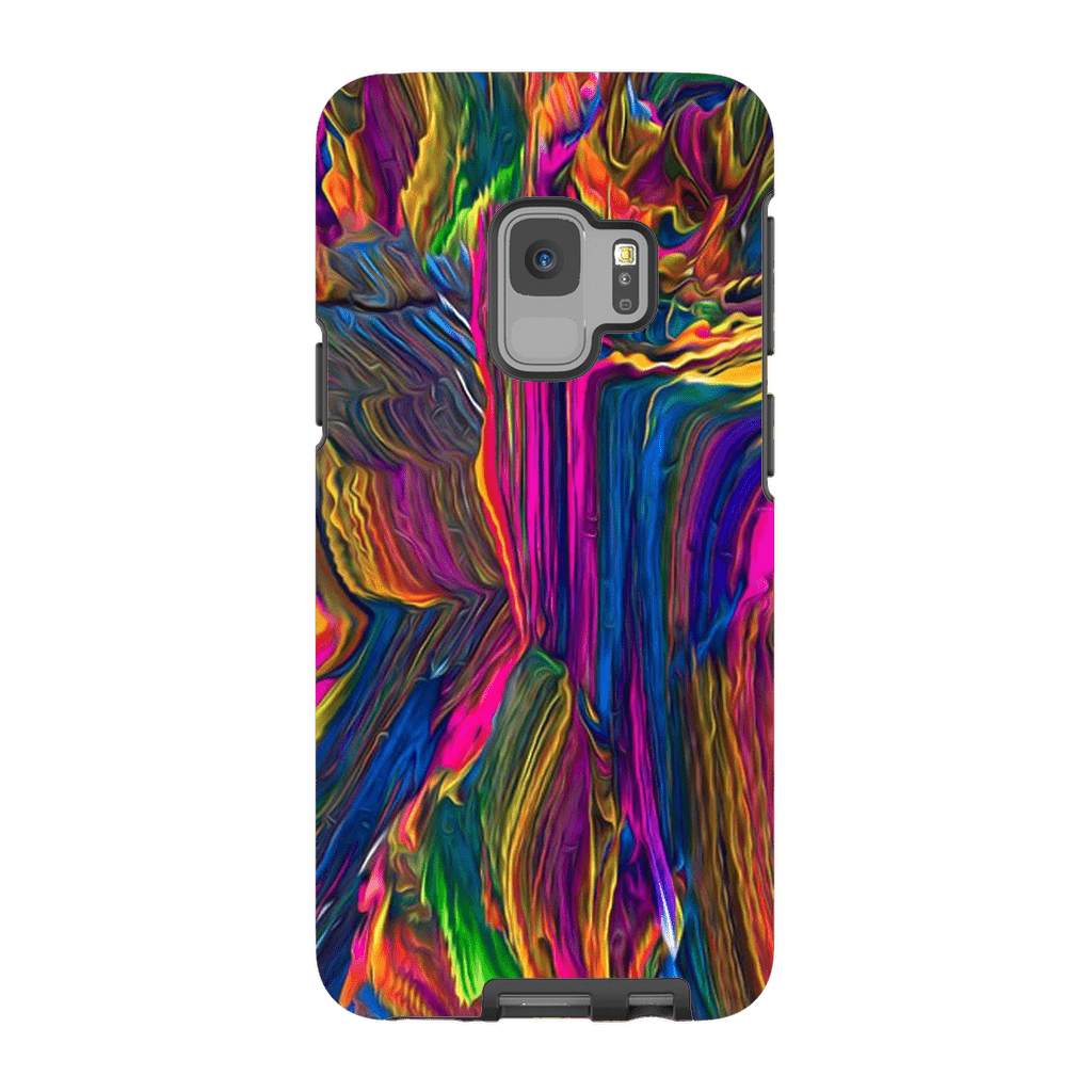 Rainbow Paint Abstract Galaxy S9 and S9 Plus Tough Case - Purdycase