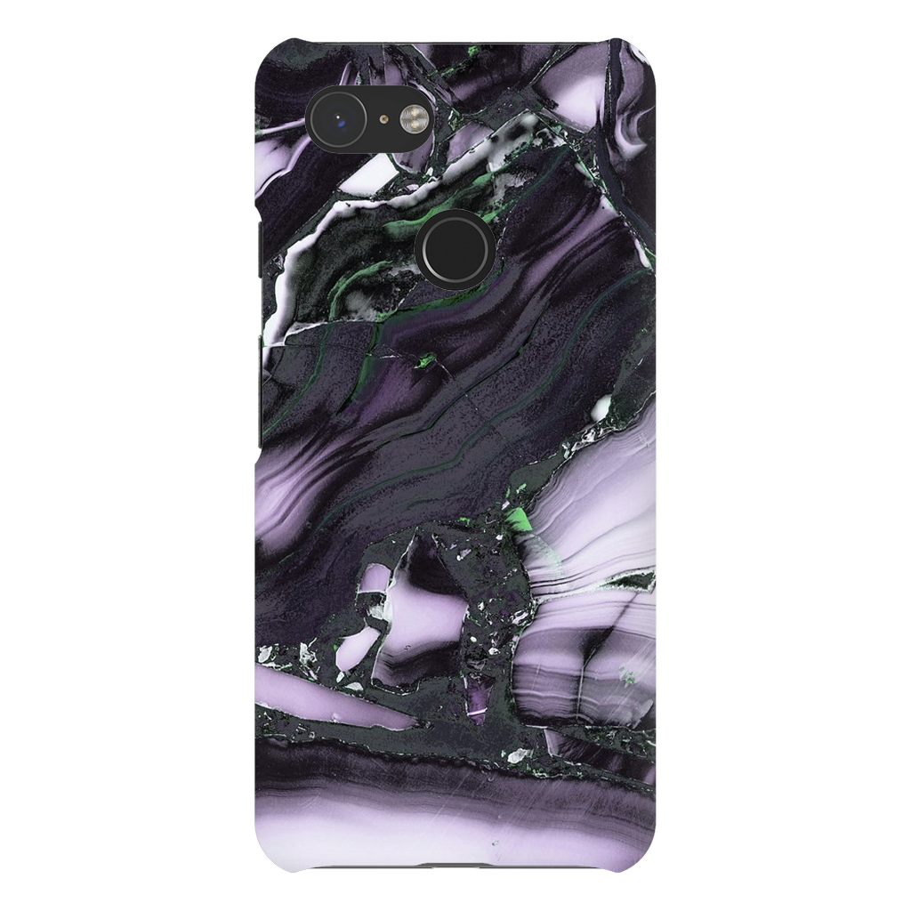 Purple Black Cracked Marble Google Pixel X-3XL Series - Purdycase