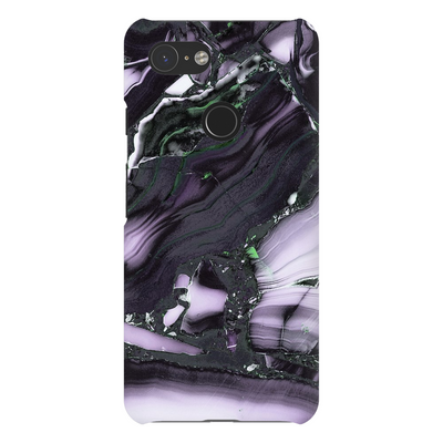 Purple Black Cracked Marble Google Pixel X-3XL Series