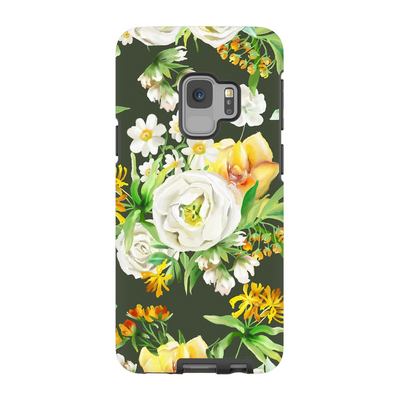 White Floral Galaxy S6 Edge - S9+ Series