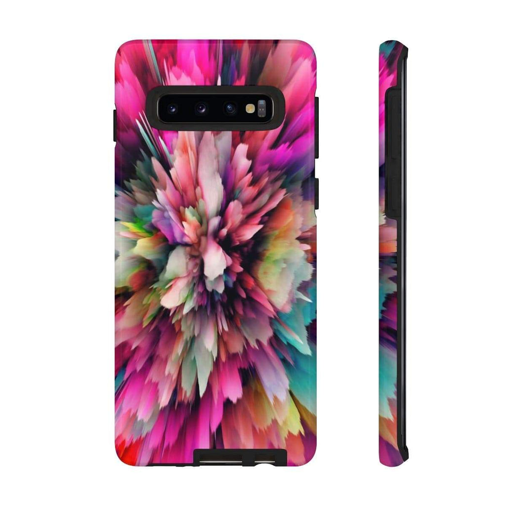 3D Pink Texture Galaxy 10 Series Tough Case - Purdycase
