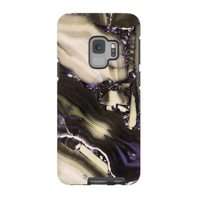 Tan Cracked Marble Galaxy S6-S9+ Series