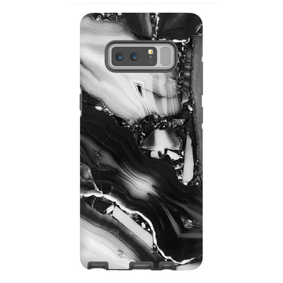 Grey Cracked Marble Galaxy Note 8-10 Series
