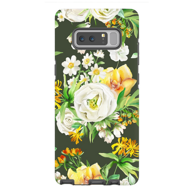 White Floral Galaxy Note 8-10+ Series