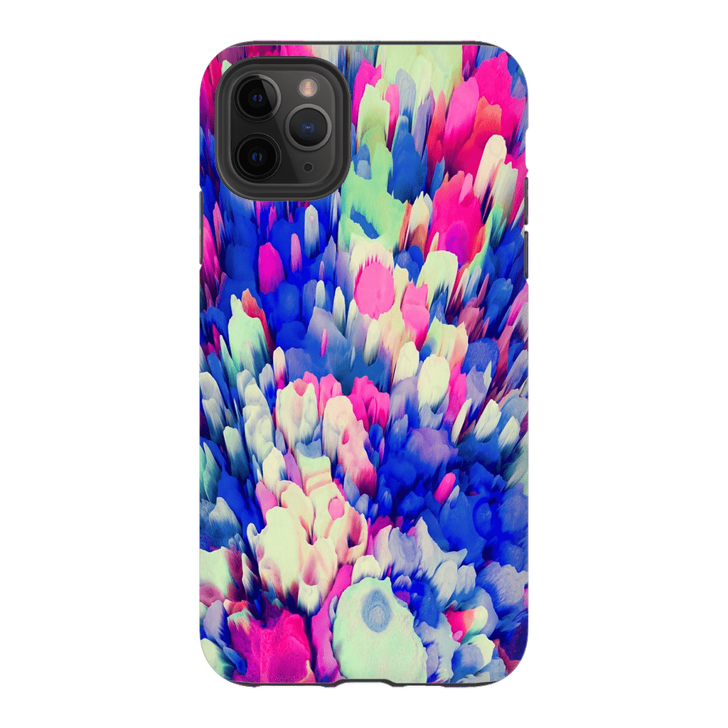 3D Multi-Color Abstract iPhone 11 Series Tough Case - Purdycase