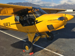 N14KX- 2007 Sport Cub Rental, $124.00 per hour ($12.40 per 10th hour), Non Taxable