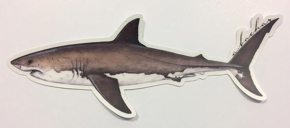 Abachar Great White Shark - Sticker 8.5