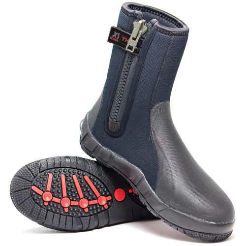 XS Scuba Thug Zipper Boots - 8mm