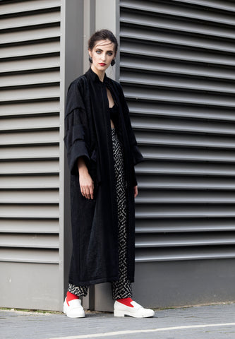 Cocoon Black Coat