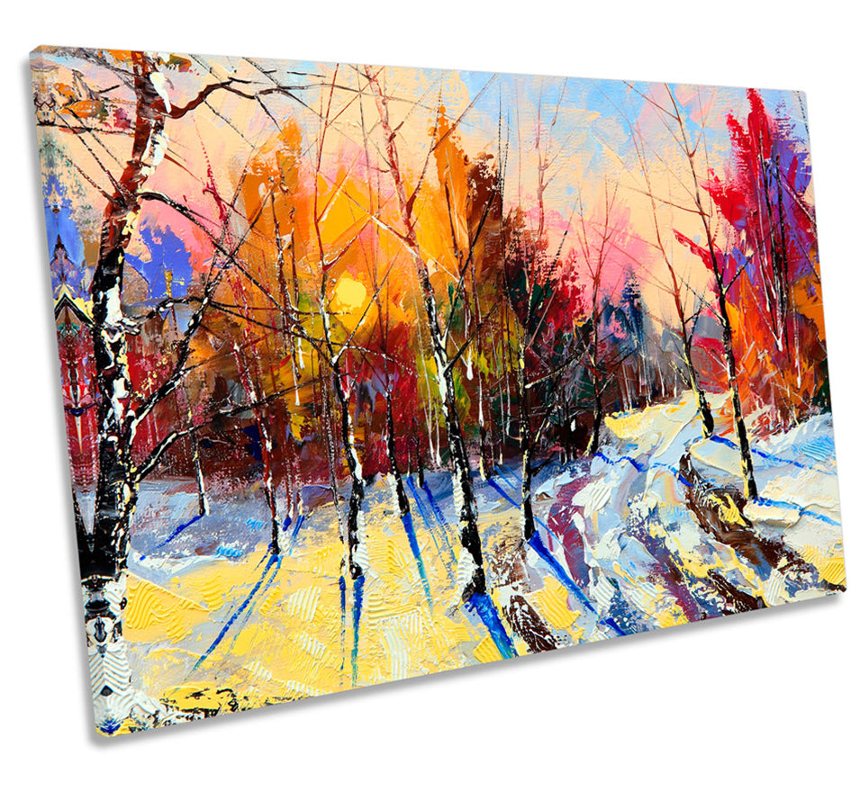 Winter Forest Abstract Scene