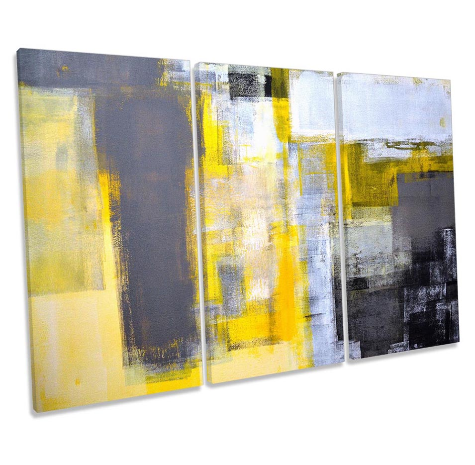 Abstract Yellow Grey Grunge