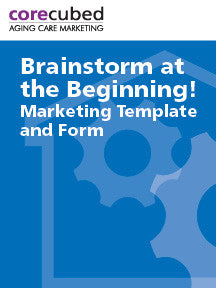 Brainstorm at the Beginning: Marketing Template & Form
