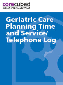 Geriatric Care Planning Time and Service Log