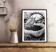 Load image into Gallery viewer, Nesting Eagle Doodle  Wall Frame
