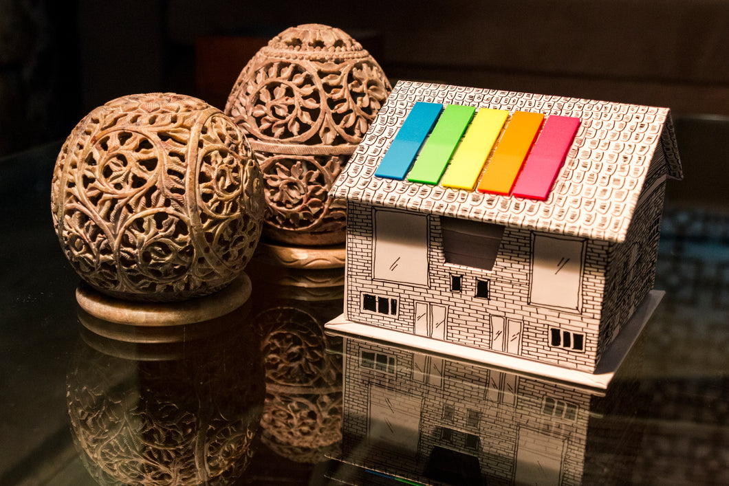 Doodle Stick-on House Box