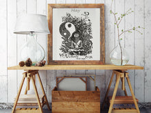 Load image into Gallery viewer, Keep Calm Doodle Wall Frame