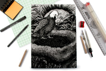 Load image into Gallery viewer, Nesting Eagle Doodle Graph Notebook
