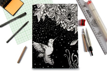 Load image into Gallery viewer, Humming Bird Doodle Graph Notebook