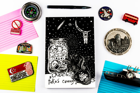 Creative courage soft bound doodle diary