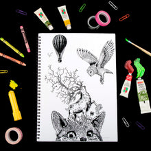 Load image into Gallery viewer, Cat Eye Doodle Sketch Book