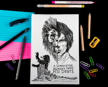 Load image into Gallery viewer, Game of thrones Hardbound doodle diary
