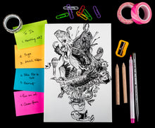 Load image into Gallery viewer, Nerdy kid softbound doodle diary