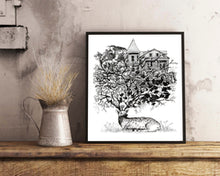 Load image into Gallery viewer, Distinguished Deer Doodle Wall Frame