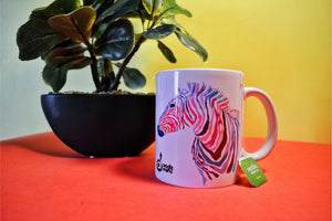 Zebra waves coffee mug