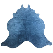 Load image into Gallery viewer, Natural Suede Rug Royal Blue 5'x7'