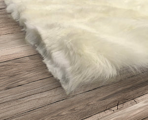 Natural Sheepskin Area Rug 6'x9'