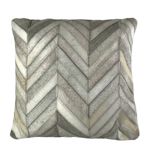 "Genuine Cowhide Pillow 16""x16"" Chevron"