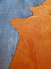 Load image into Gallery viewer, Natural Suede Rug Rust 5'x7'