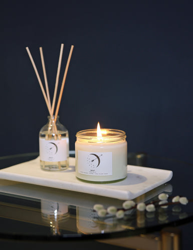 Clear Candle and Diffuser Duo