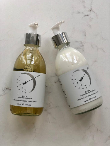 Calm hand wash & lotion duo