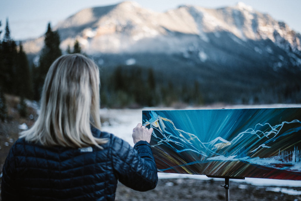 Allison McGree fine art Bozeman Montana mountain painting private events