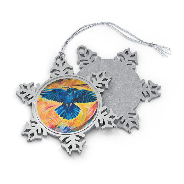 Flight: Pewter Snowflake Ornament