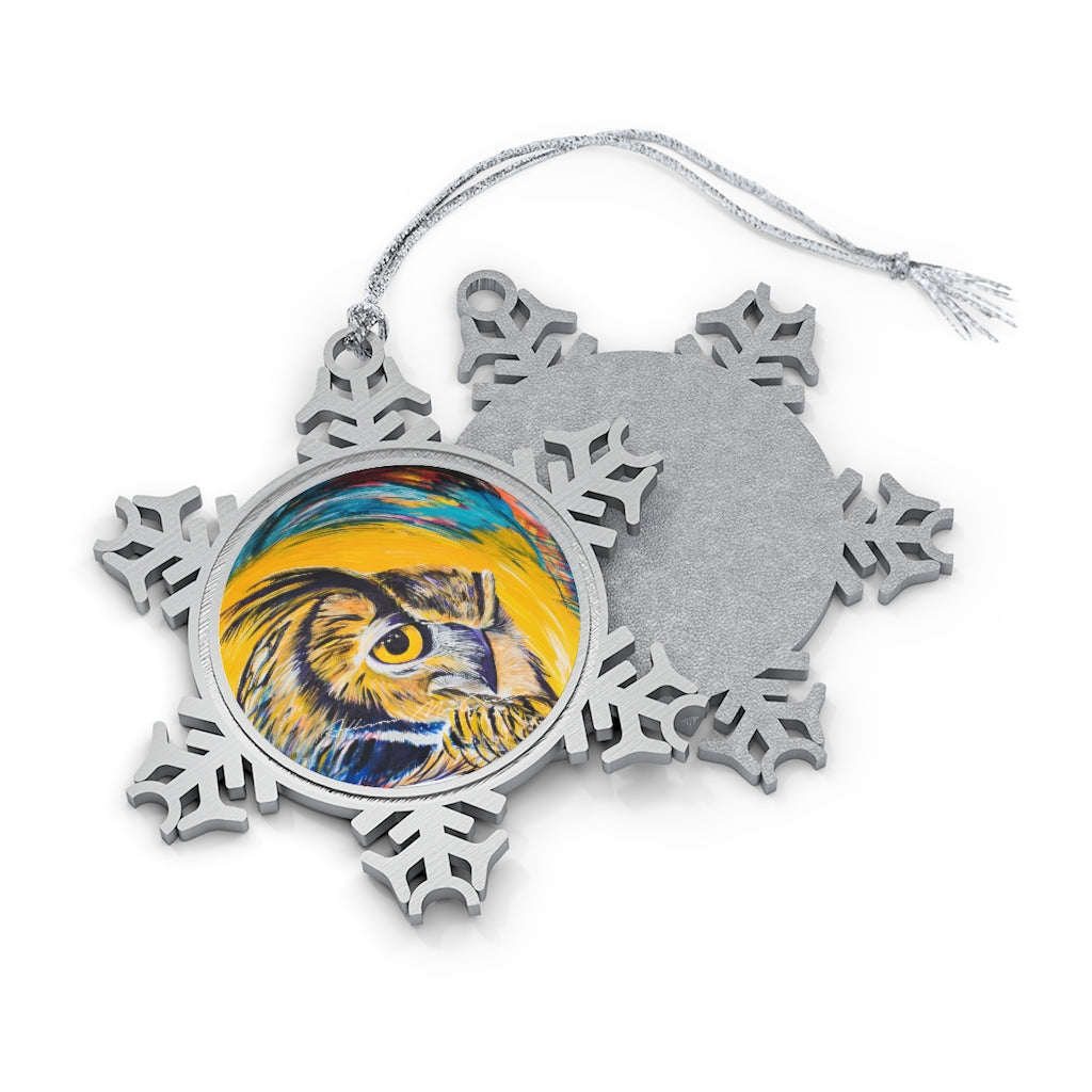 Darius: Pewter Snowflake Ornament
