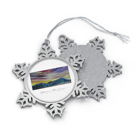 Bridger Mountains: Pewter Snowflake Ornament