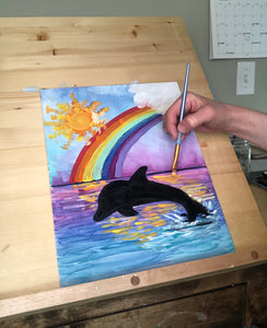 Paint a Rainbow Dolphin