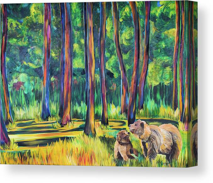 Bears in the Forest - Canvas Print