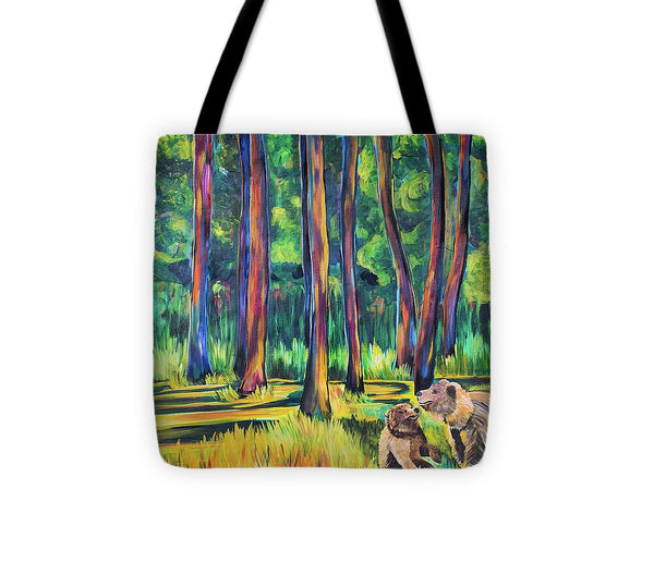 Bears in the Forest - Tote Bag