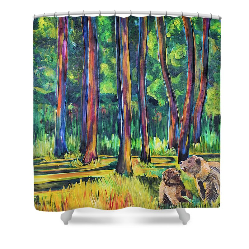 Bears in the Forest - Shower Curtain