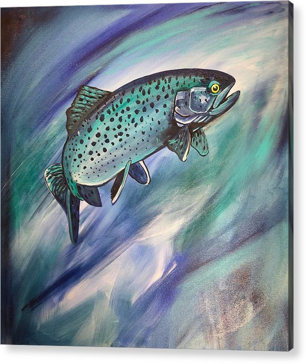 Blue Fish - Acrylic Print