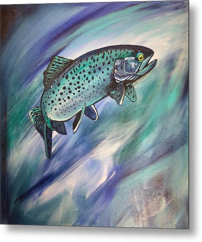 Blue Fish - Metal Print