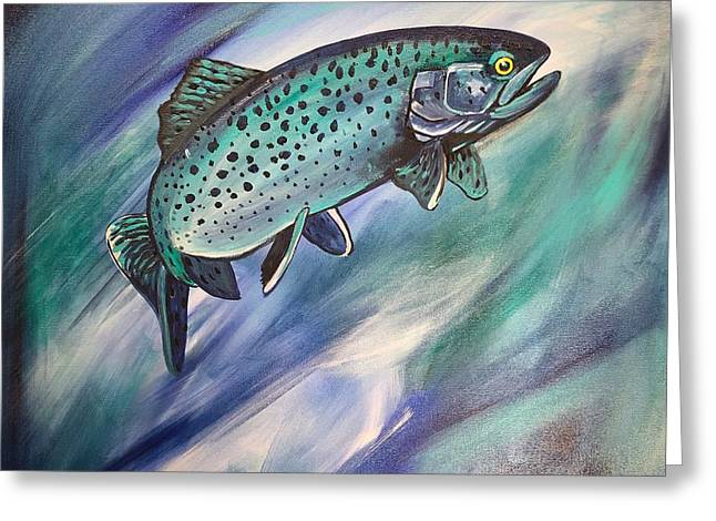 Blue Fish - Greeting Card