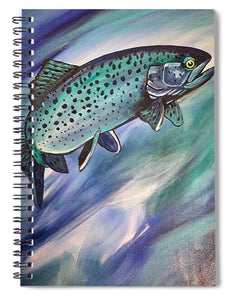 Blue Fish - Spiral Notebook