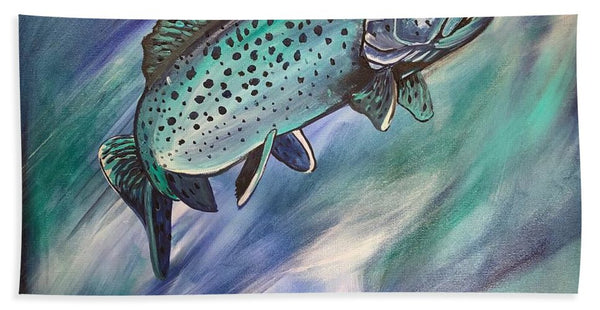 Blue Fish - Beach Towel
