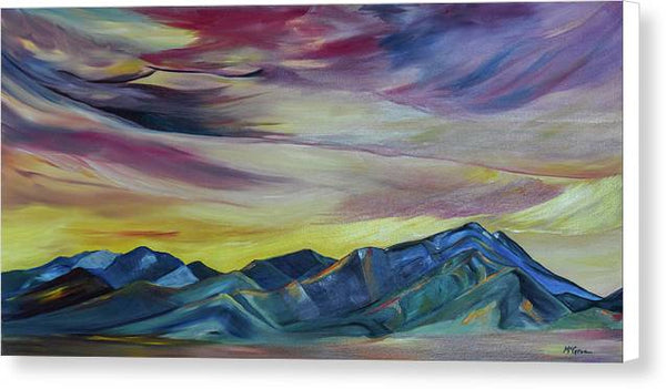 Bridger Mountains, Sunise - Canvas Print